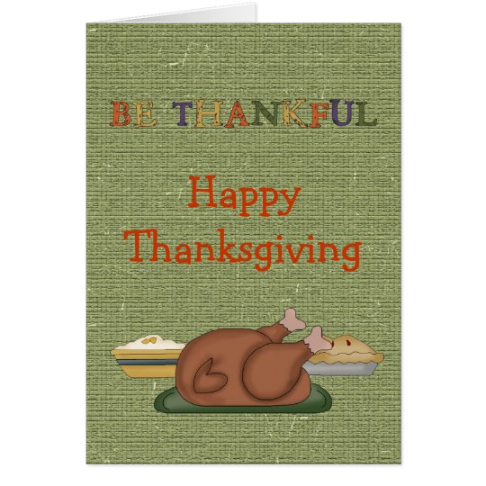 Country Thanksgiving Turkey Pies Greeting Card