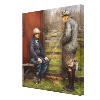 Country - The farmhands Stretched Canvas Print