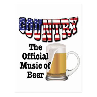 Country: The Official Music of Beer Postcard