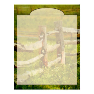 Country - The old fence post Customized Letterhead