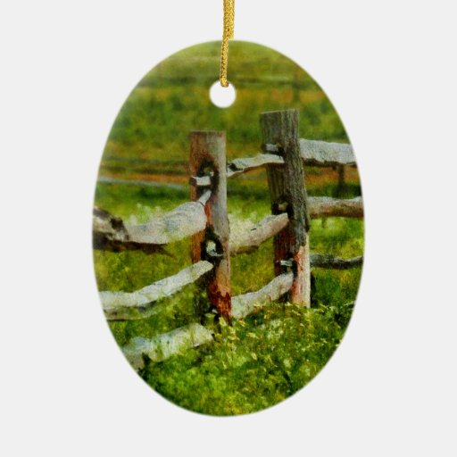 Country the old fence post christmas tree ornament zazzle