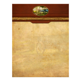 Country - The old wagon out back Customized Letterhead