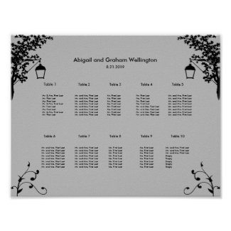 Country Theme Seating Chart Poster