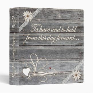 Country Theme Wedding Binder