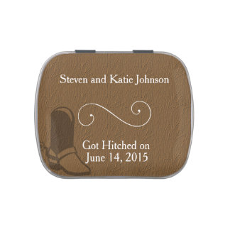 Country Themed Wedding Favors Candy Tin