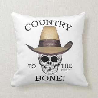 Country to the Bone! Throw Pillow