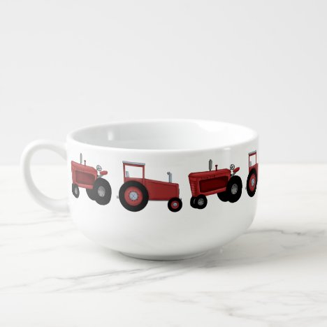Country Tractor cartoon soup bowl
