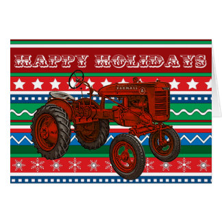Country Tractor Christmas Card