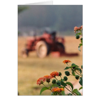 Country Tractor Note Card Farm Field