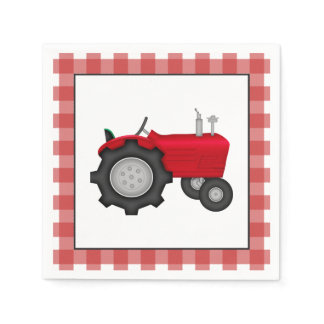Country Tractor party paper napkins
