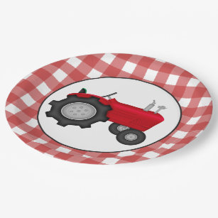 Country Tractor party paper plates  sc 1 st  Zazzle & Tractor Paper Party Supplies | Zazzle