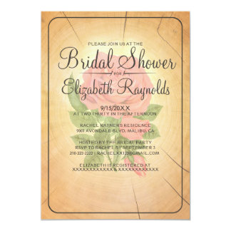 Country Tree Rings Bridal Shower Invitations Invites