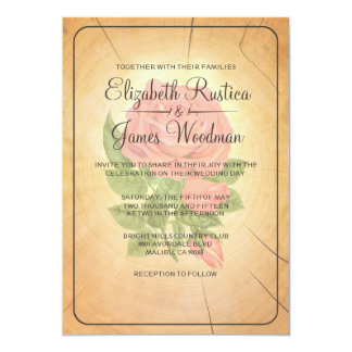 Country Tree Rings Wedding Invitations Custom Announcements