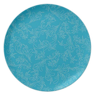 Country Turquoise Stitch Pattern Plate