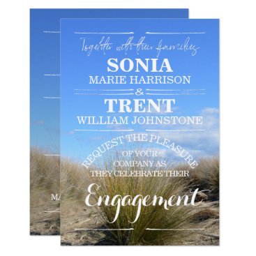 Beach Themed Country Tussock ENGAGEMENT PARTY Card