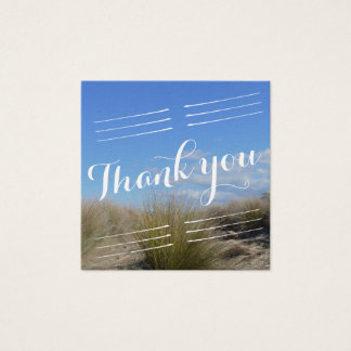 Country Tussock Wedding Thank you Square Business Card