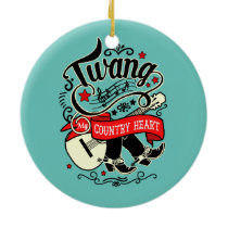Country Twang Red/Black ID464 Ceramic Ornament