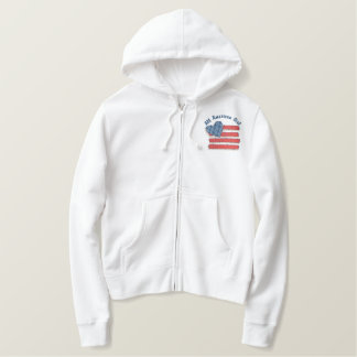Country USA Embroidered Hoodie