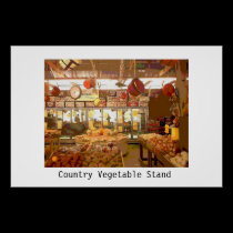 Country Vegetable Stand posters