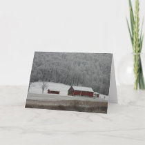 Country View in Winter, Notecard