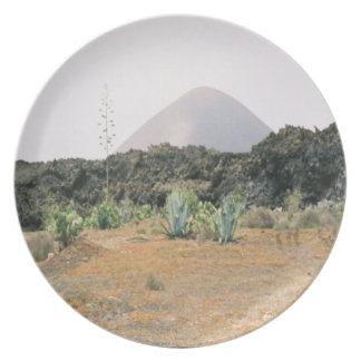 Country Views - Volcano Peak Melamine Plate