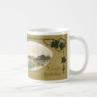 Country Vignette with Ivy Vintage Easter Coffee Mug