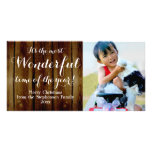 Country Vintage Christmas Most Wonderful Time Photo Card Template