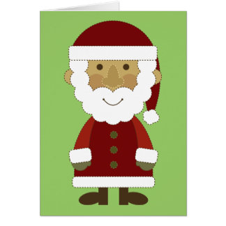 Country Vintage Santa Claus Greeting Card