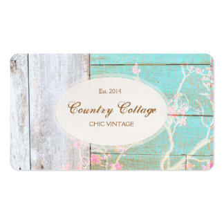 Country Vintage Shabby Rustic Wood Chic Boutique Business Cards