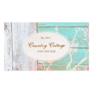 Country Vintage, Shabby, Rustic Wood Chic Boutique Double-Sided Standard Business Cards (Pack Of 100)