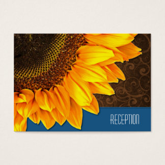 Country Vintage Sunflower Wedding Reception Cards