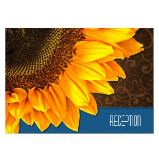 Country Vintage Sunflower Wedding Reception Cards profilecard