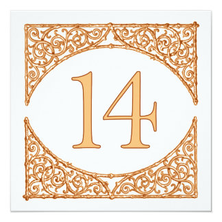 Country Vintage Wood Screen Table Number 14