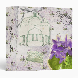 Country Violets and Birdcages Binder