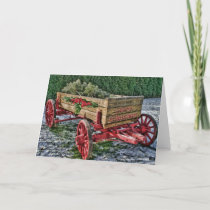 Country Wagon Christmas Card