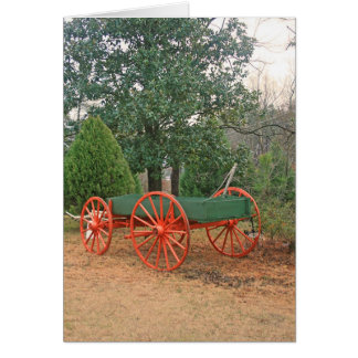 Country Wagon Mule Cart Note Card