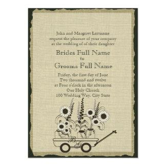 Country Wagon Wedding 5.5x7.5 Paper Invitation Card