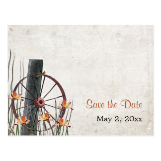 Country Wagon Wheel  - Save the Date Postcards