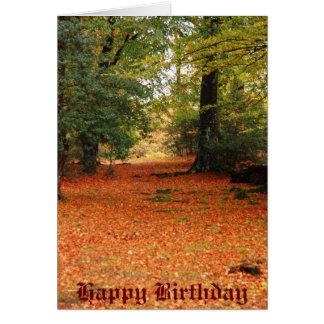 country walk Happy Birthday Card