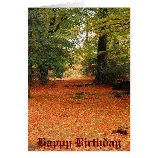 country walk Happy Birthday Card