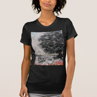 Country Walk in Charcoal/Pastel Black Tee Shirt