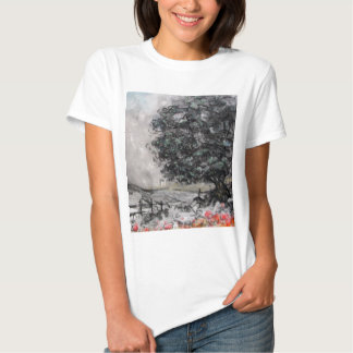 Country Walk in Charcoal/Pastel Tee Shirt