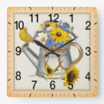Country water can wall clock