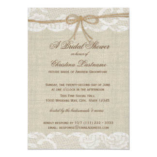 Country Wedding Bridal Shower Cards
