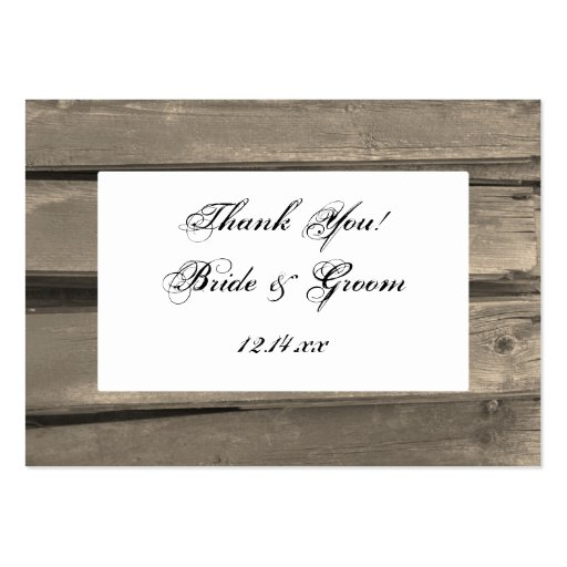 Wedding Gift Tags Nz : Country Barn Wood Wedding Favor Tags Large Business Cards (Pack Of 100 ...