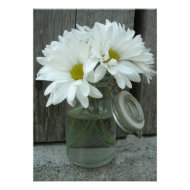 Country Wedding Invitation Daisies in a Jar