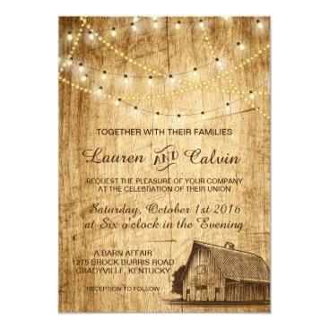 langdesignshop Country wedding invitation with Barn