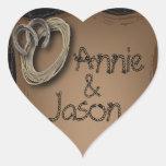 Country Wedding Love Sticker