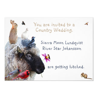 Country Wedding or Engagement: invitations