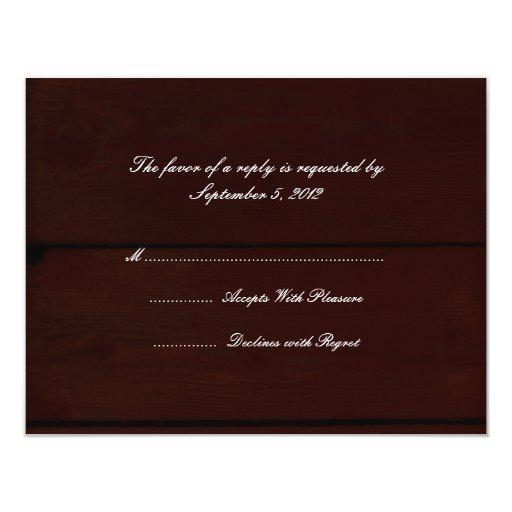 Country Wedding RSVP Card